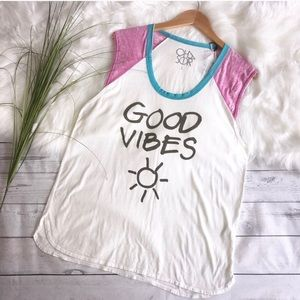 NWT Chaser Positive Vibes Tee